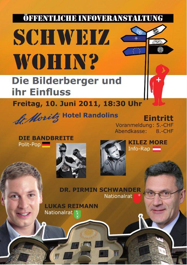Veranstaltung gegen die Bilderberger Konferenz