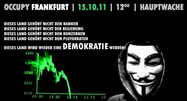 Werbung für Occupy (Frankfurt)